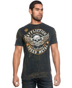 Affliction Crusaders Cross Tape Graphic T-Shirt