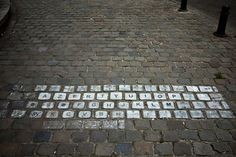 keyboard street art