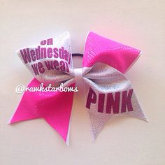 Mean Girls Cheer Bow by RAWkstarBows on Etsy, $10.00 Cute Cheer Bows, Cheer Mom, Cheer Stuff, Big Bows, Cheerleading Tips, Cheer Outfits, Cheer Quotes, Mean Girls, Nike Pros
