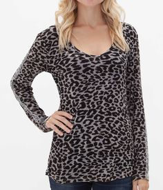 Gimmicks by BKE Leopard Print Top - Women's Shirts/Tops | Buckle