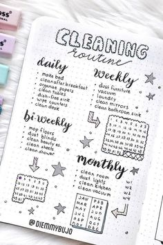 Best Cleaning Tracker Spreads For Bullet Journal Addicts - Crazy Laura 15 Best Cleaning Tracker Spreads For Bullet Journal Addicts - Crazy Laura Crazy Laura Journal D'inspiration, Creating A Bullet Journal, Self Care Bullet Journal, Bullet Journal Lettering Ideas, Bullet Journal Tracker, Bullet Journal Notebook, Bullet Journal Aesthetic, Bullet Journal Themes, Bullet Journal Ideas Pages
