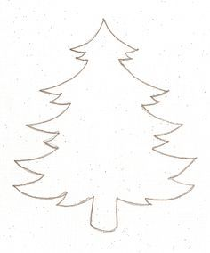 Christmas Tree Template to Print. Make use of this pattern to create Christmas tree ornaments using felt, craft foam, card board, and other things you are Preschool Christmas, Noel Christmas, Christmas Colors, Winter Christmas, All Things Christmas, Christmas Decorations, Christmas Ornaments, Christmas Tree Cut Out, Christmas Tree Silhouette