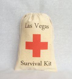 Hangover Kit set of 10 Las Vegas Survival Kit by owlwaysremember