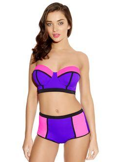 Bondi Purple Longline Bikini Top | Freya Swimwear