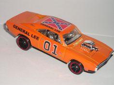 Hot Wheels Dukes of Hazzard GENERAL LEE 1970 Dodge CHARGER R/T custom car #HotWheels #Dodge
