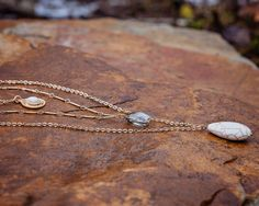 Stone Layered Necklace Crystal Layered by RozAndGoldieDesigns