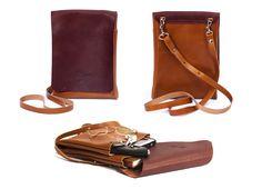 Mens bag - leather cover iPad Messenger - Mens business bag ludena - computer…
