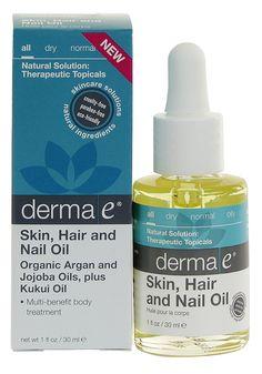 derma E skin, hair and nail oil | #OrganicSpaMagazine #editorspicks