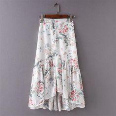 Help me find this skirt Modest Fashion, Women's Fashion Dresses, Boho Fashion, Fashion Women, Casual Skirt Outfits, Casual Skirts, Ruffle Skirt, Dress Skirt, Mermaid Skirt