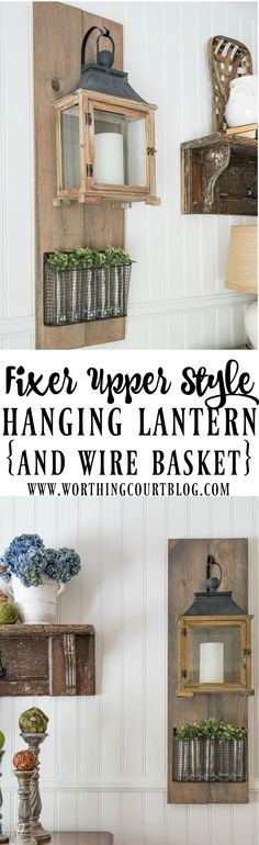 Fixer Upper Style DIY Hanging Lanterns For My Dining Room - Worthing Court