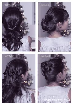 Day 4, Project E.L.F. - Four Quick Hairdos