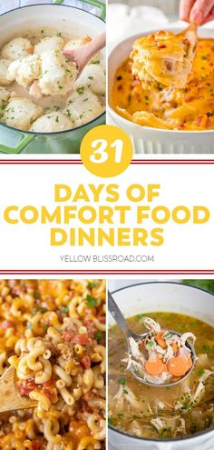Good old fashioned comfort food recipes that warm your belly while feeding your soul, and remind you of cozy Sunday dinners with your family.