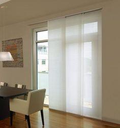 Levolor® Panel Track Blind: Designer Textures Light Filtering shown in Whisper