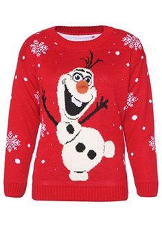 MNBS Weihnachten Rentier lang Pullover Damen fein Strick Pulli Davidschirsche Reh Pullover Strickpullover Jerseykleider