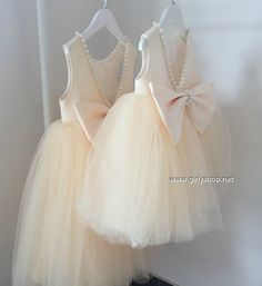 Girly Shop's Beige Cute Pearl Applique Round Neckline Sleeveless Knee Length Big Bow Back Baby Infant Toddler Little Girl Party Tutu Dress Baby Tutu Dresses, Little Girl Dresses, Baby Dress, Girls Dresses, Baby Skirt, Flower Girls, Flower Girl Dresses, Toddler Dress, Infant Toddler