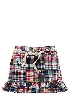 Ralph Lauren Childrenswear Patchwork Madras Skirt Toddler Girl