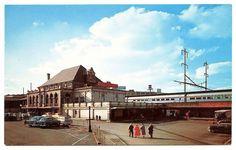 North Philadelphia PA Railroad Station Train Depot Old Cars Postcard | eBay