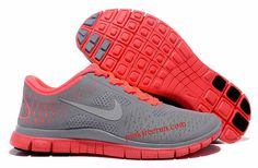 Hot Punch Reflective Silver Wolf Grey Nike Free 4.0 Women's Running Shoes