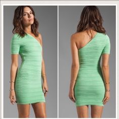 Torn by ronny kobomint one shoulder prom dress Mint green short bandage one shoulder dress. In perfect condition just like now comes from a pet free smoke free home 🚫 no trades 🚫 ‼️goes to best offer ‼️ can go cheaper on Ⓜ️ercari Torn by Ronny Kobo Dresses Mini