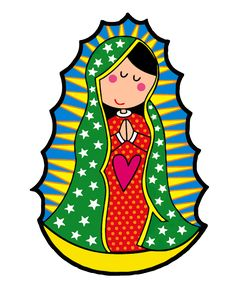 "Képtalálat a következőre: ""Carmen More"" Wood Craft Patterns, Catholic Crafts, Blessed Virgin Mary, Catholic Saints, Mexican Folk Art, Blessed Mother, Kirchen, Drawing For Kids, Fabric Painting"