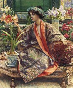 Edward John Poynter : Hot-house Flower