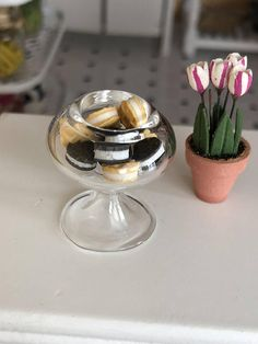 2 Dollhouse Miniature Unfinished Metal Decorative Tree Spoon