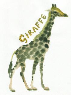 week 38 Giraffe: watercolour quick sketch