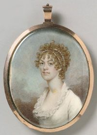 Portrait of Mary Catherine Sprogell -1805  Made in United States  Artist: Benjamin Trott (American, c.1770-1843)  watercolor on ivory  Philadelphia Museum of Art