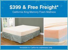 California King Memory Foam Mattress