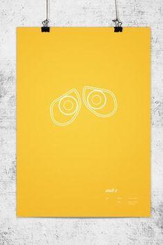 10 Creative Minimalist Pixar Posters by Wonchan Lee - Pelfind