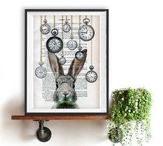Lapin blanc Alice au pays des merveilles horloge par NotMuchToSay                                                                                                                                                     Plus