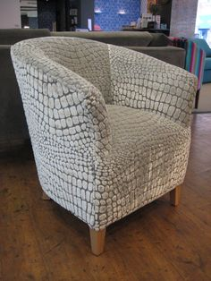 Fabulous Designers Guild Nabucco p/m) was used for our latest tub chair hand - made in Sussex. Frame only is + metres of any fabric. Bespoke Sofas, Cushion Filling, Designers Guild, Furniture Upholstery, Club Chairs, Sofa Bed, Recliner, Cribs, Accent Chairs
