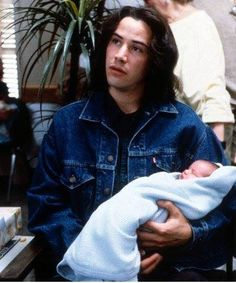 """Keanu Reeves on the most important thing of being a father: """"To be around for your child and not be a stranger. If you plan to be a parent you have to be willing to be committed. Children take priority in your life, or at least they should. Keanu Reeves Young, Keanu Charles Reeves, John Wick, Keanu Reeves Quotes, Arch Motorcycle Company, Keanu Reaves, Little Buddha, Matrix, American Actors"""
