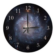 Spiral Galaxy NGC 1309 Clock with Numbers