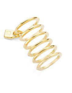 Uno De 50 Prisionero Ring Set Women's Gold