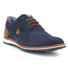 11d6cfc438 FOSCO Zapato Casual Piel Fosco Azul Marino Zapatos Azules Hombre