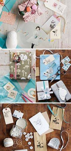 supplies for gift wrapping