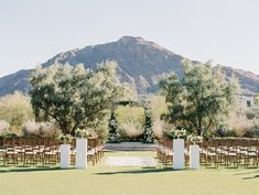 Magical Mountain Views Bring The Romance In This Paradise Valley Wedding Wedding Planner, Destination Wedding, Paradise Valley, Wedding Ceremony Decorations, Arizona Wedding, Outdoor Ceremony, Mountain View, Dolores Park, Romance
