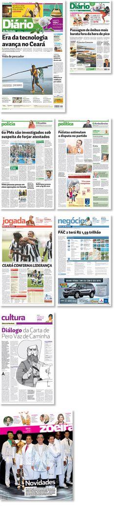 Rediseño de Diario Do Nordeste, Fortaleza, Brasil.  Trabajo realizado para Estudi Cases.