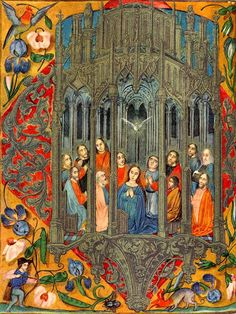Libro d'ore fiammingo, sec. XVI, Biblioteca Marciana, Venezia, Italy