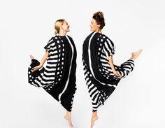 Above: Paula Vesala and Meeri Koutaniemi wearing the Korppi silk dresses in the Tiet print. Design: Liisa Suvanto and Katsuji Wakisaka, 1974