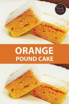 Easy Orange Pound Cake – Orange Sponge Cake Recipe Without Oven Cake Recipes Without Oven, Cake Recipes At Home, Sponge Cake Recipes, Cake Recipes From Scratch, Homemade Cake Recipes, Best Cake Recipes, Pound Cake Recipes, Dessert Recipes, Desserts