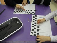 Optical Art- The Kindergarten students are starting a new Unit of Inquiry on the Five Senses.  I explained the concept of optical illusion to the children and we looked at paintings by Victor Vasarely, Josef Albers, and Bridget Riley.   The students engaged in an art activity based on one of Bridget Riley's paintings through the technique of weaving with black and white.