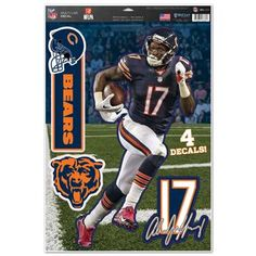 Chicago Bears Decal 11x17 Multi Use Alshon Jeffrey Special Order