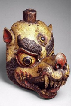 Tibetan mask via The Asian Art Museum