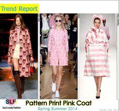 Pastel Pink Coat is the New Trench Coatfor Spring Summer 2014. Pattern PrintPastel Pink #Coat #FashionTrend for Spring Summer 2014 #FashionTrends2014 #spring2014 #trends2014 #pink #color #fashion #trends
