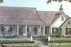 Country Exterior - Front Elevation Plan #310-604 - Houseplans.com