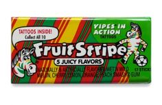 Fruit Stripe Gum...I can still smell the sweetness of this stuff