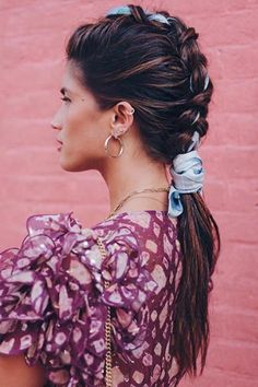 Excited to be partnering with again for NYFW! 💕Obsessed with my Mohawk braid using Micro Mist Hair Spray to keep it set all day! Cute Ponytail Hairstyles, Braided Hairstyles, Updo Hairstyle, Curly Hair Styles, Natural Hair Styles, Head Band, Mohawk Braid, Crown Braids, Braided Ponytail