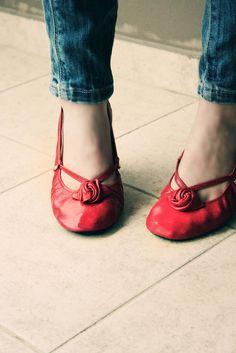 Image of Red Alert Ballet Flats